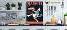 Marmite Metal Wall Sign (4 sizes) | Artwork for Kitchens | Metal  Wall Art